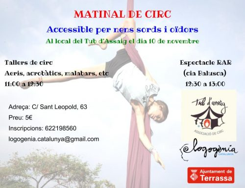 Matinal de circ accessible per a infants sords!
